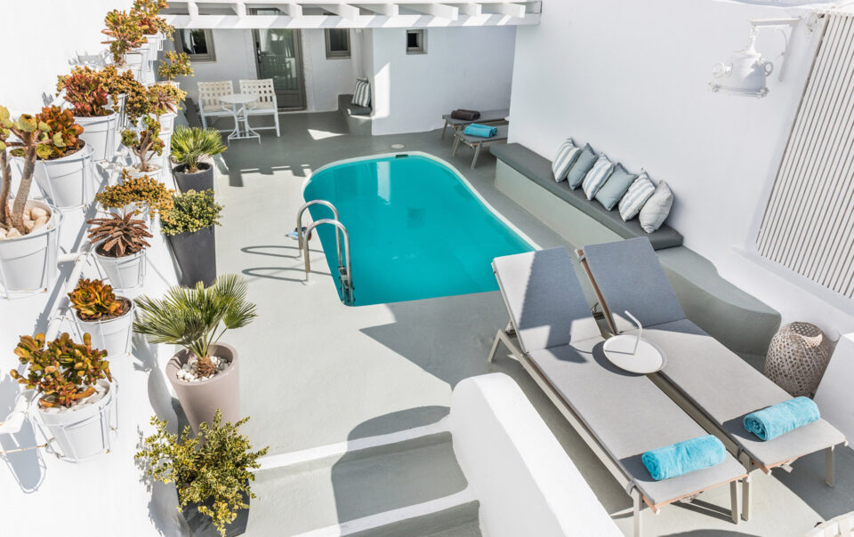 On The Rocks Santorini - Master Suite with Outdoor Private Pool & Caldera view